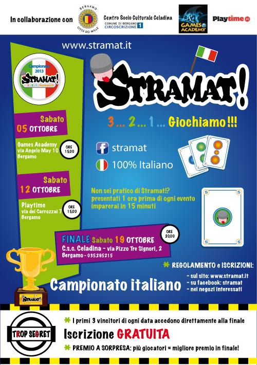 Locandina campionato Stramat! 2013